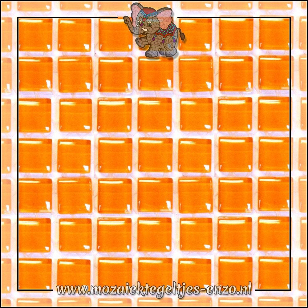Murrini Crystal | 1cm | Enkele Kleuren | 60 stuks | Mini Tangerine