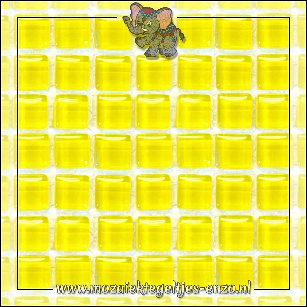 Murrini Crystal   1cm   Enkele Kleuren   60 stuks   Mini Citrus Yellow