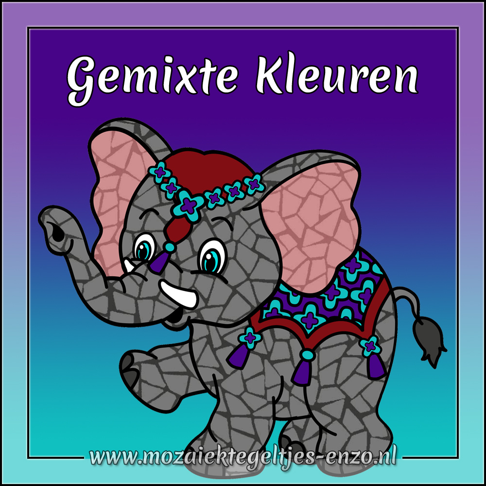 Parelmoer | 2cm | Gemixte Kleuren  | 20 stuks | Mixed Colours