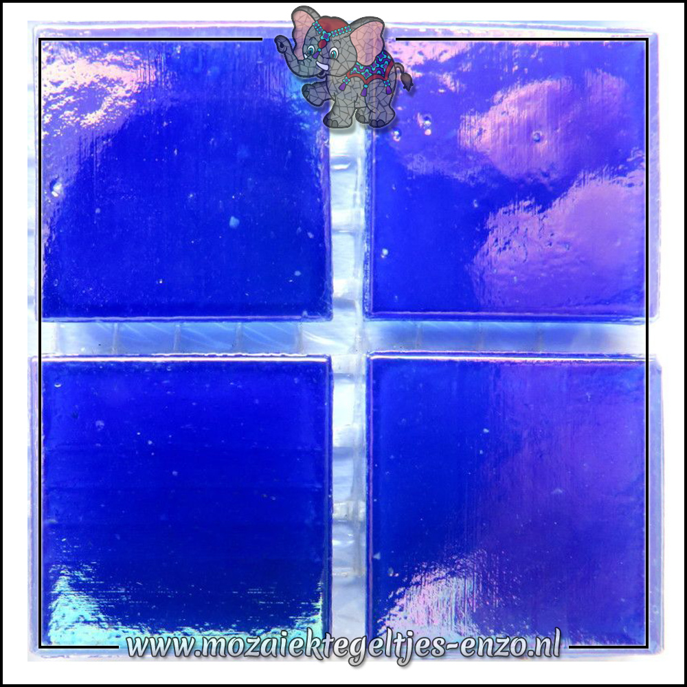 Parelmoer   2cm   Enkele Kleuren   20 stuks   Sapphire Blue
