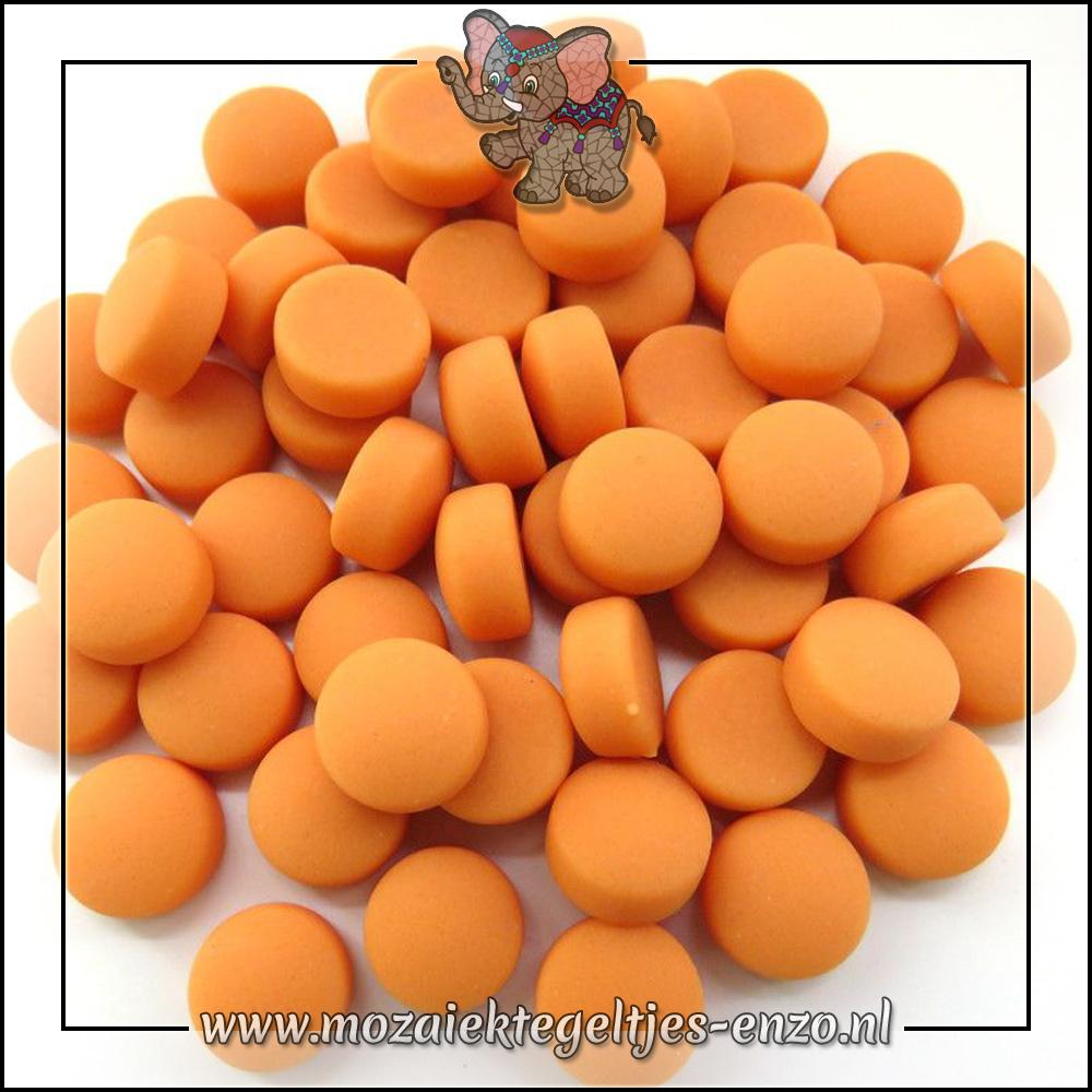 Glasdruppels Mat   12mm   Enkele Kleuren   50 gram  Orange