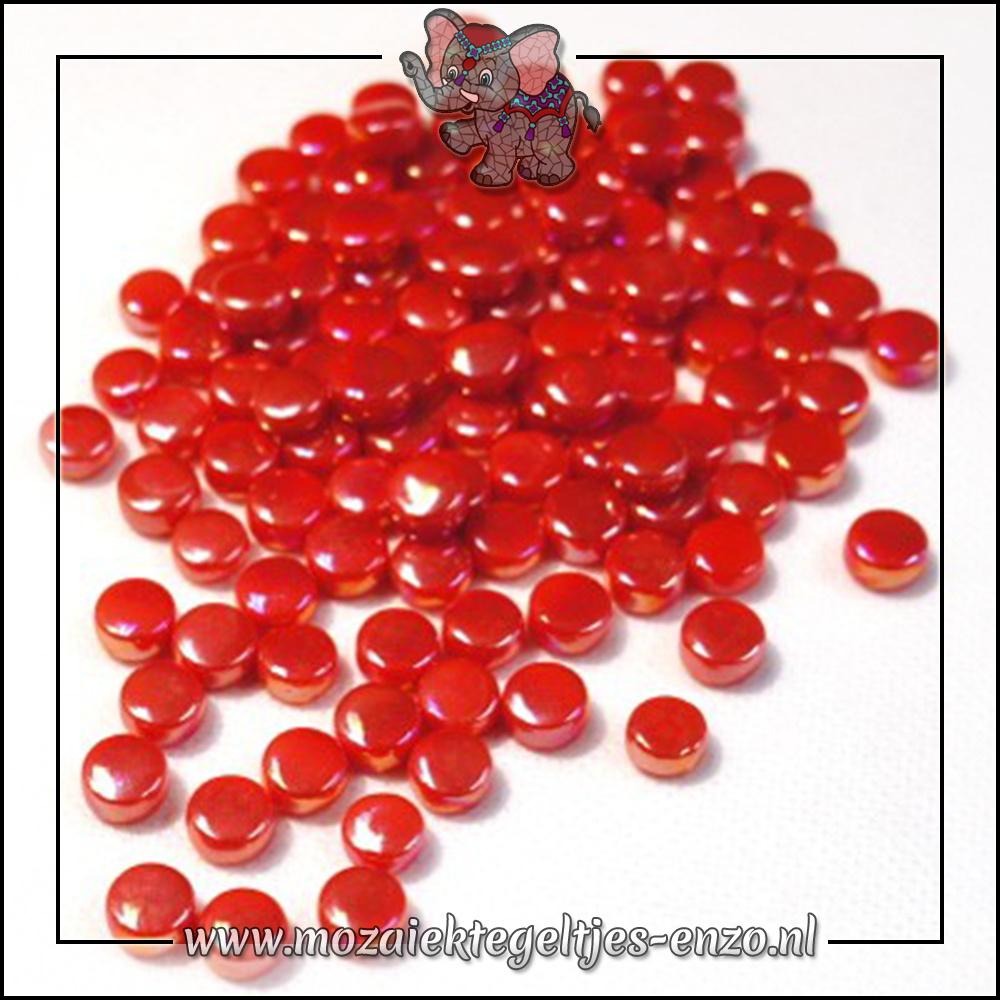 Glasdruppels Parelmoer | 8mm | Enkele Kleuren | 50 gram | Watermelon