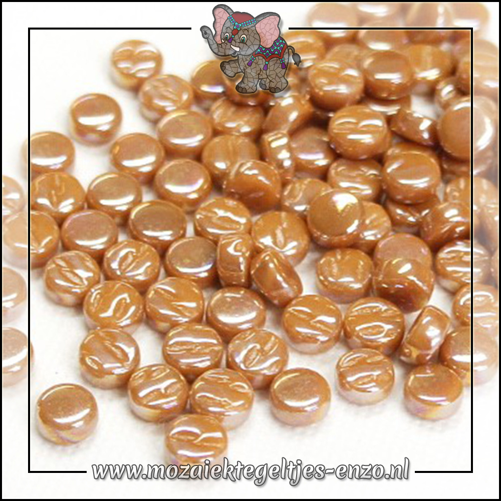 Glasdruppels Parelmoer | 8mm | Enkele Kleuren | 50 gram | Brown Sugar