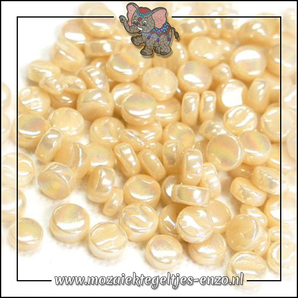 Glasdruppels Parelmoer | 8mm | Enkele Kleuren | 50 gram | Cream