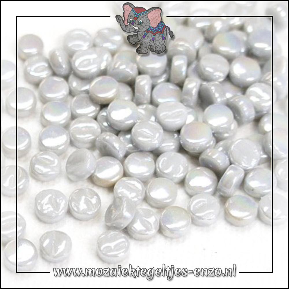 Glasdruppels Parelmoer | 8mm | Enkele Kleuren | 50 gram | Pale Grey