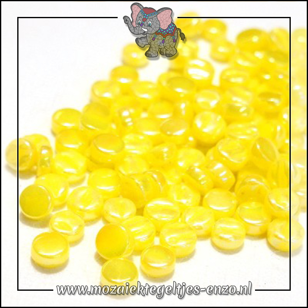 Glasdruppels Parelmoer | 8mm | Enkele Kleuren | 50 gram | Acid Yellow