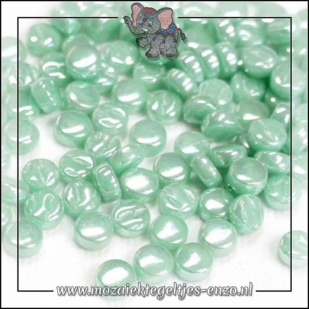 Glasdruppels Parelmoer | 8mm | Enkele Kleuren | 50 gram | Pale Teal