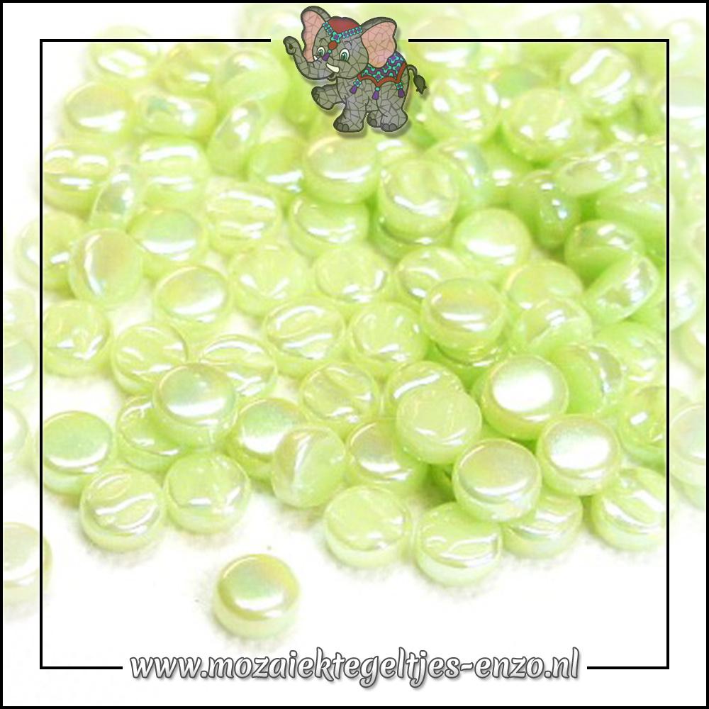 Glasdruppels Parelmoer   8mm   Enkele Kleuren   50 gram   Soft Green