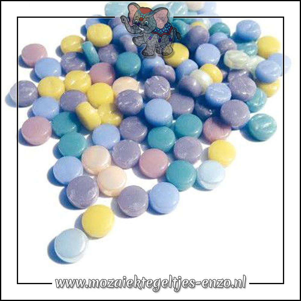 Glasdruppels Normaal | 8mm | Gemixte Kleuren | 50 gram | Spun Sugar