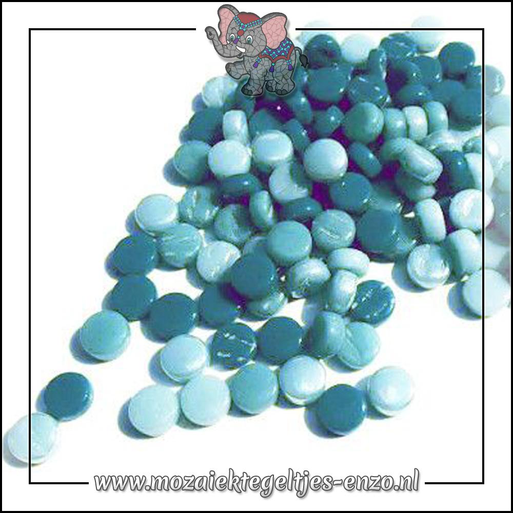 Glasdruppels Normaal | 8mm | Gemixte Kleuren | 50 gram | Sea Foam