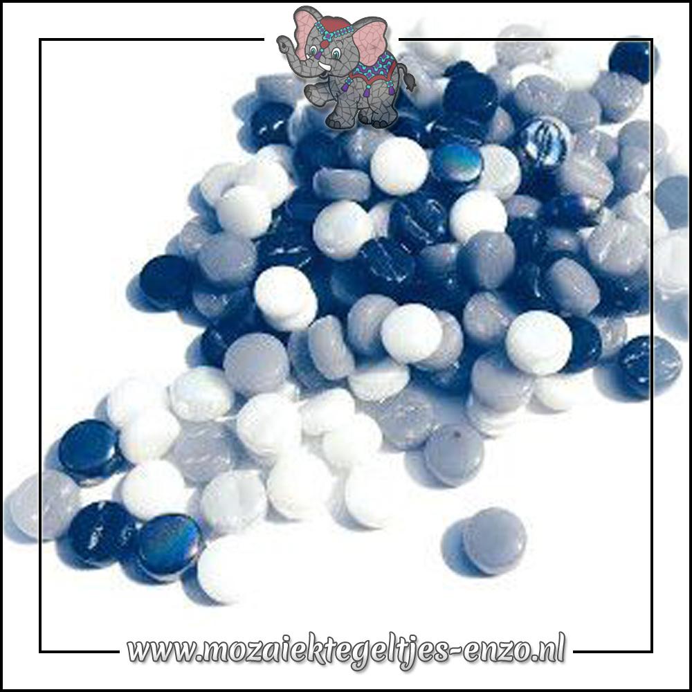 Glasdruppels Normaal | 8mm | Gemixte Kleuren | 50 gram | Oreo Cookie