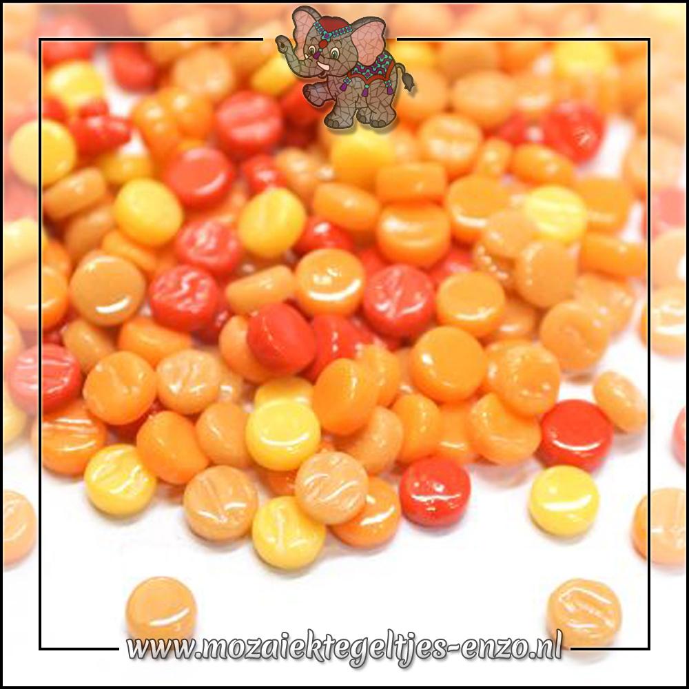 Glasdruppels Normaal | 8mm | Gemixte Kleuren | 50 gram | Orange Zest