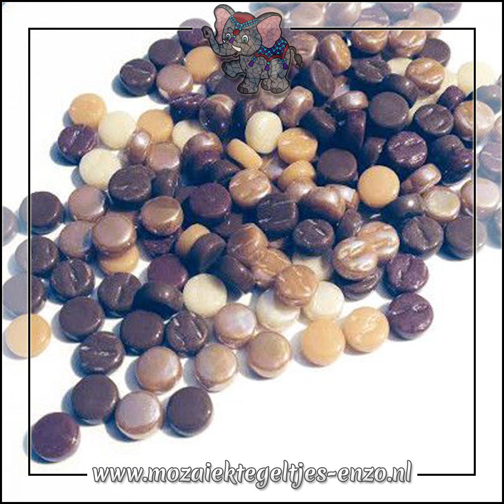 Glasdruppels Normaal | 8mm | Gemixte Kleuren | 50 gram | Chocolate Ganache