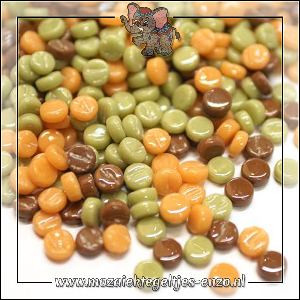 Glasdruppels Normaal | 8mm | Gemixte Kleuren | 50 gram | Caramel Crunch