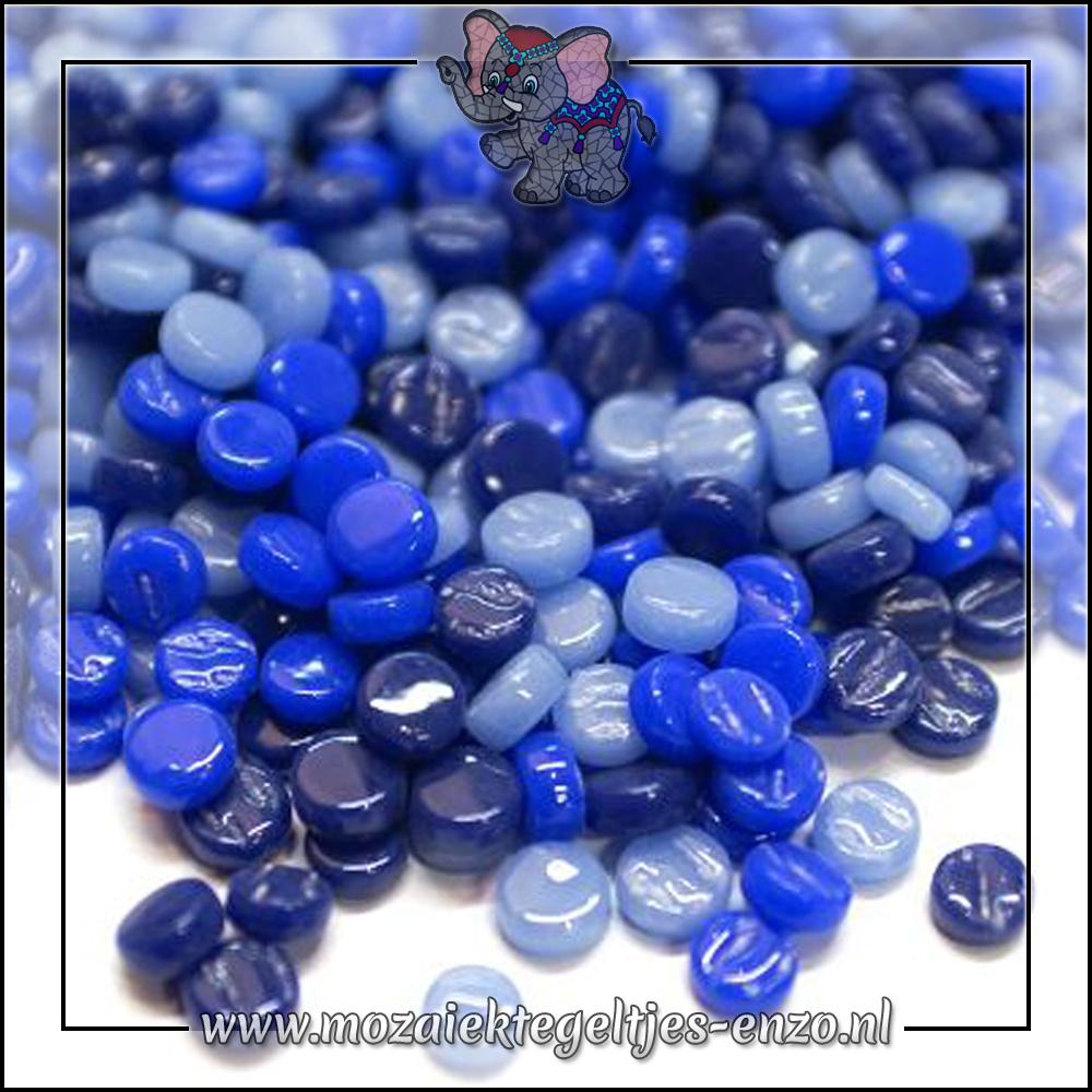 Glasdruppels Normaal | 8mm | Gemixte Kleuren | 50 gram | Blueberry Bombe