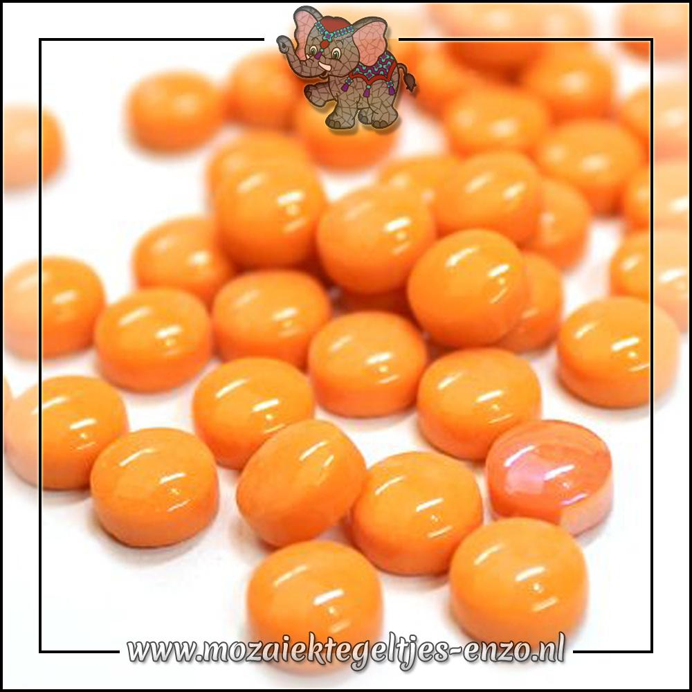 Glasdruppels Normaal | 12mm | Enkele Kleuren | 50 gram |Opal Orange