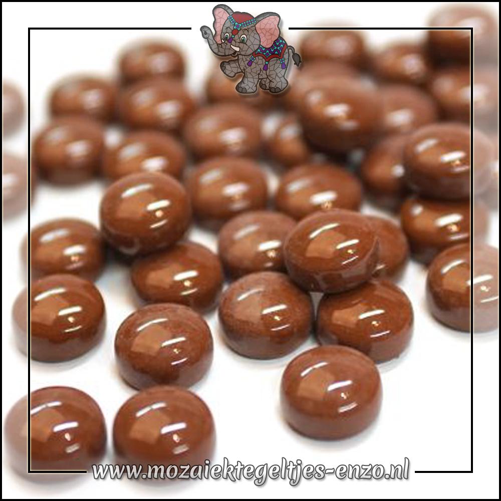 Glasdruppels Normaal | 12mm | Enkele Kleuren | 50 gram |Coffee