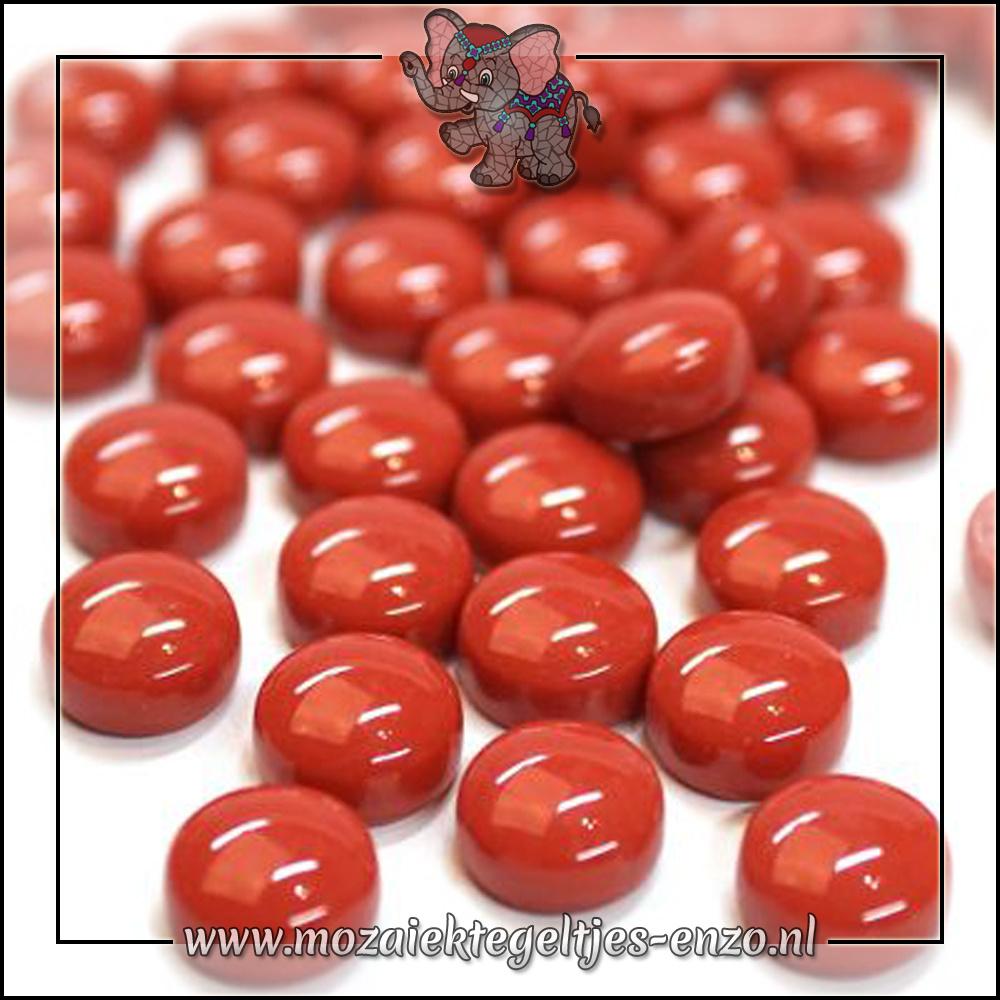 Glasdruppels Normaal   12mm   Enkele Kleuren   50 gram  Blood Red