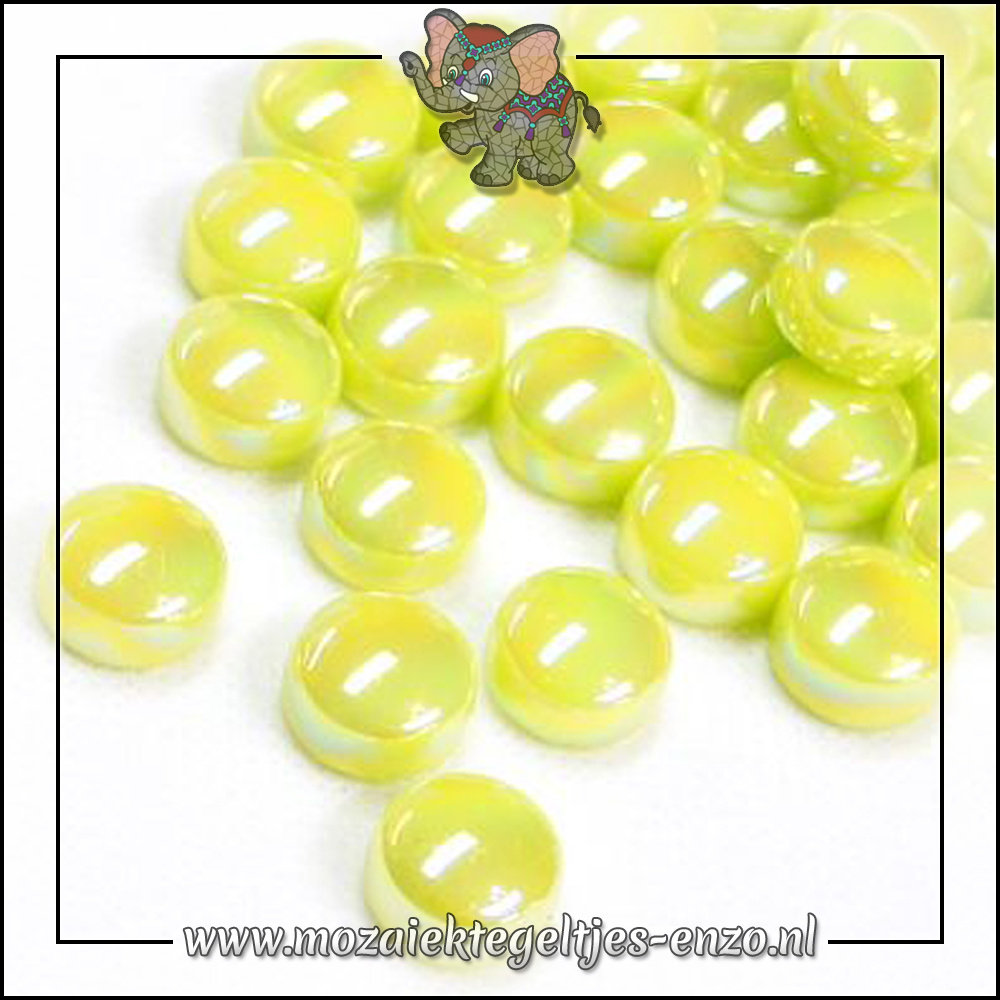 Glasdruppels Parelmoer   12mm   Enkele Kleuren   50 gram  Yellow Green