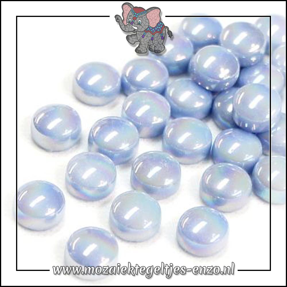 Glasdruppels Parelmoer | 12mm | Enkele Kleuren | 50 gram |Pale Blue