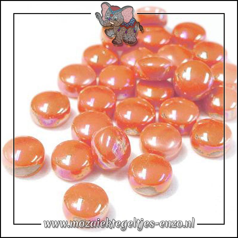 Glasdruppels Parelmoer   12mm   Enkele Kleuren   50 gram  Orange Opal