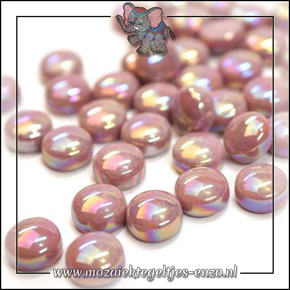 Glasdruppels Parelmoer | 12mm | Enkele Kleuren | 50 gram |Deep Rose