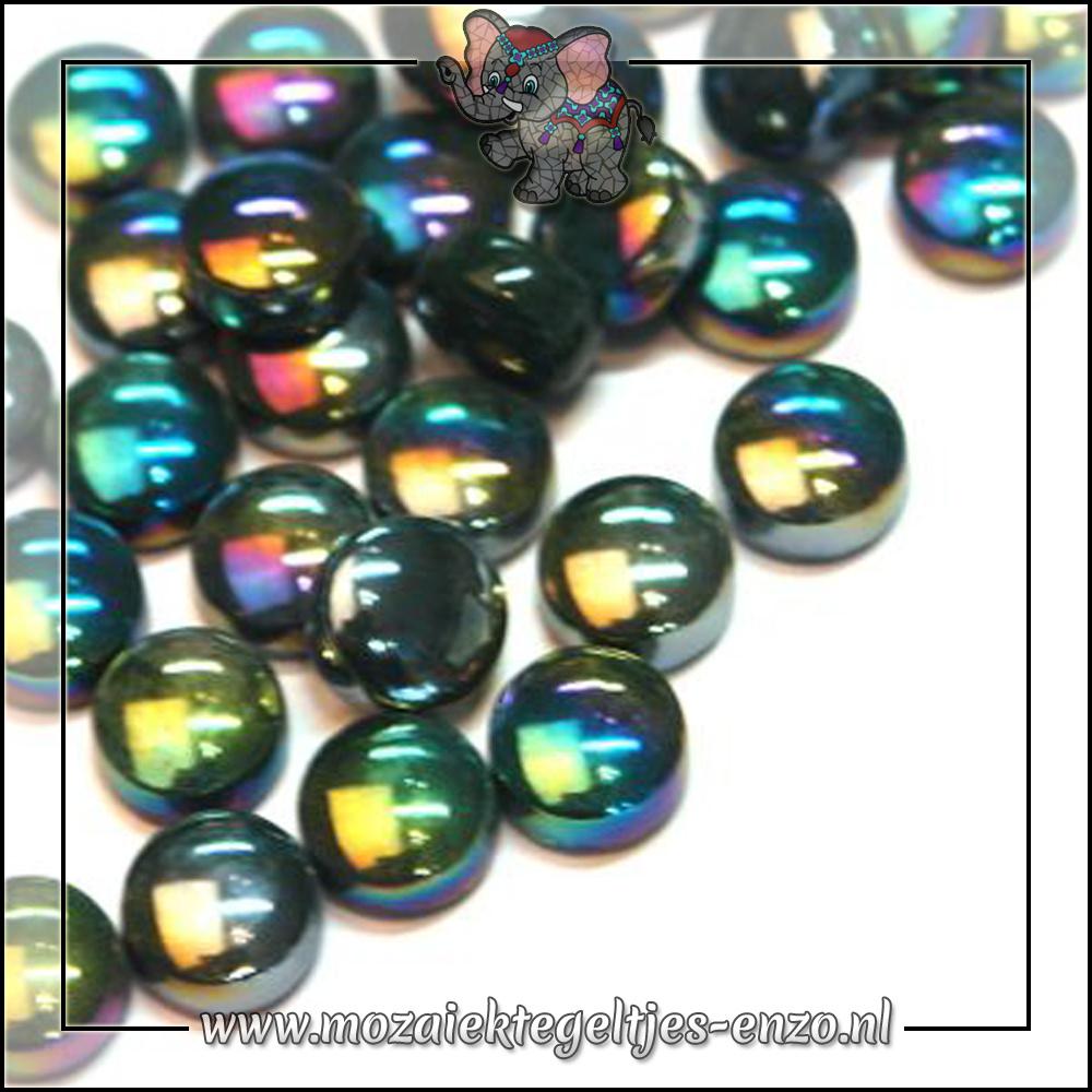 Glasdruppels Parelmoer   12mm   Enkele Kleuren   50 gram  Dark Green