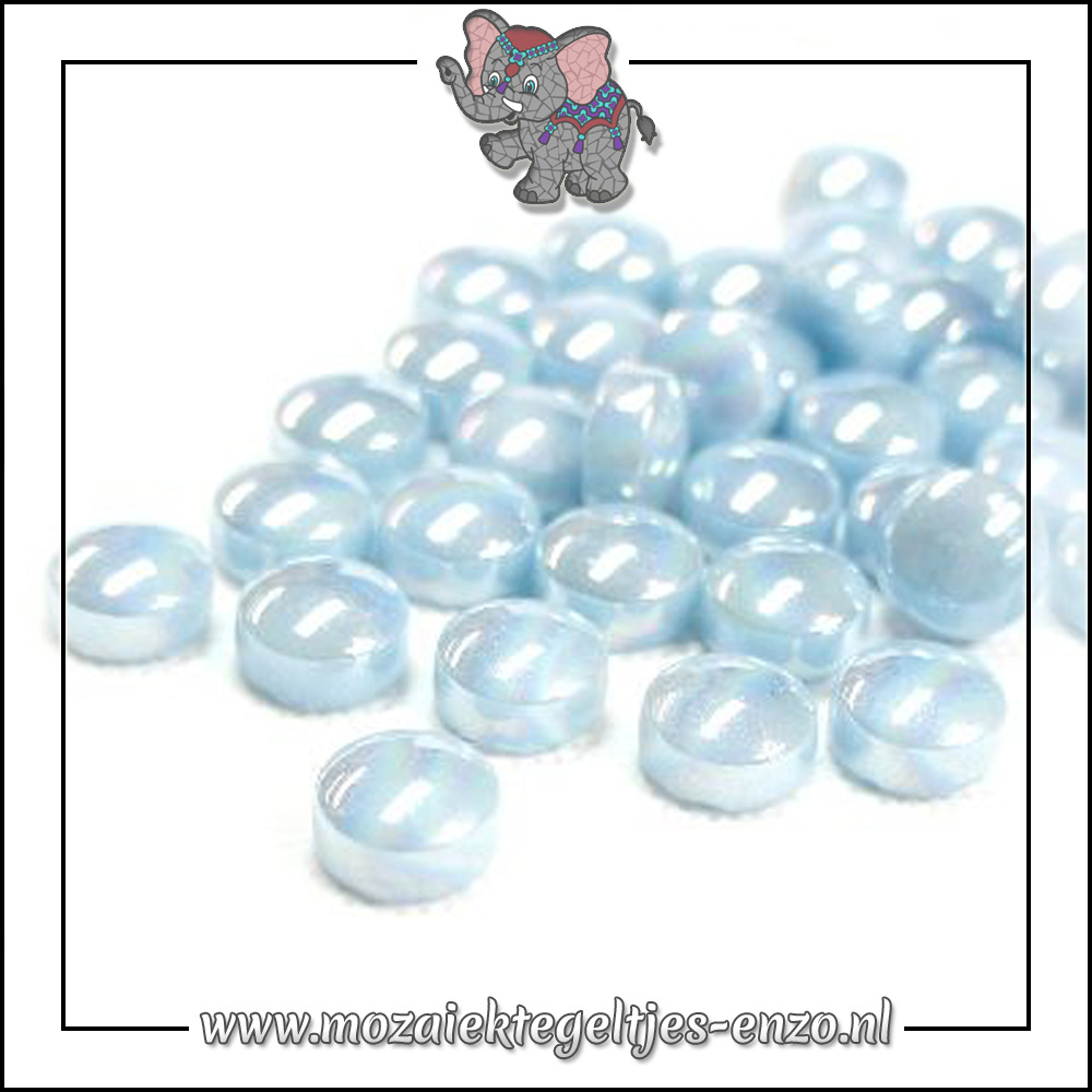 Glasdruppels Parelmoer | 12mm | Enkele Kleuren | 50 gram |Aqua