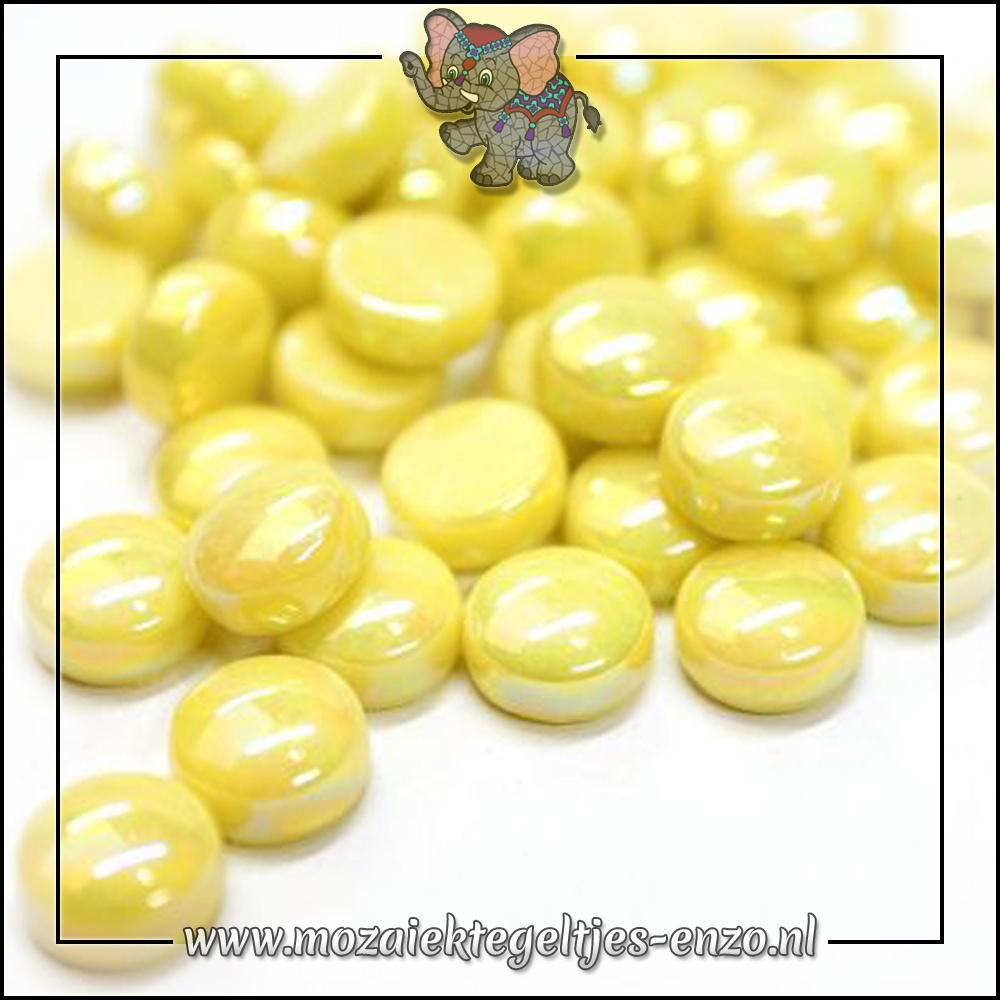 Glasdruppels Parelmoer   12mm   Enkele Kleuren   50 gram  Acid Yellow