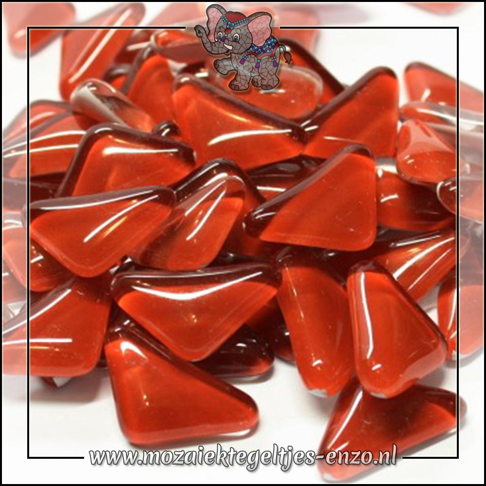 Soft Glas Puzzelstukjes Normaal | Enkele Kleuren | 50 gram |Red Burgundy
