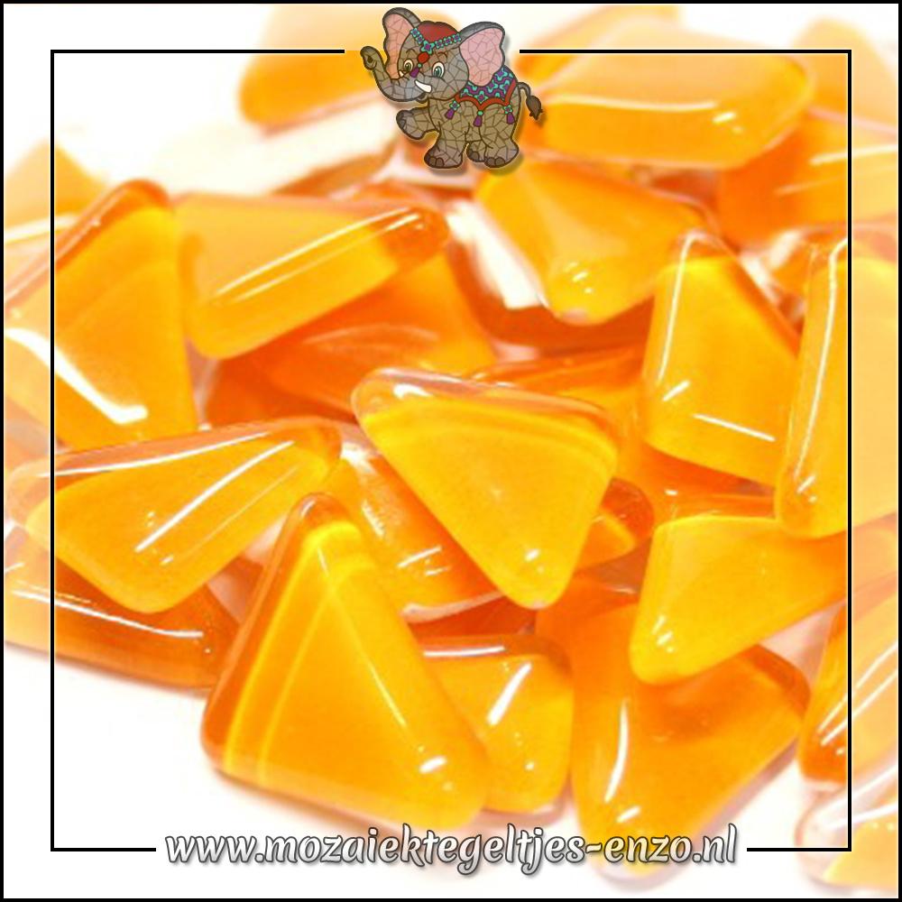 Soft Glas Puzzelstukjes Normaal | Enkele Kleuren | 50 gram |Tangerine