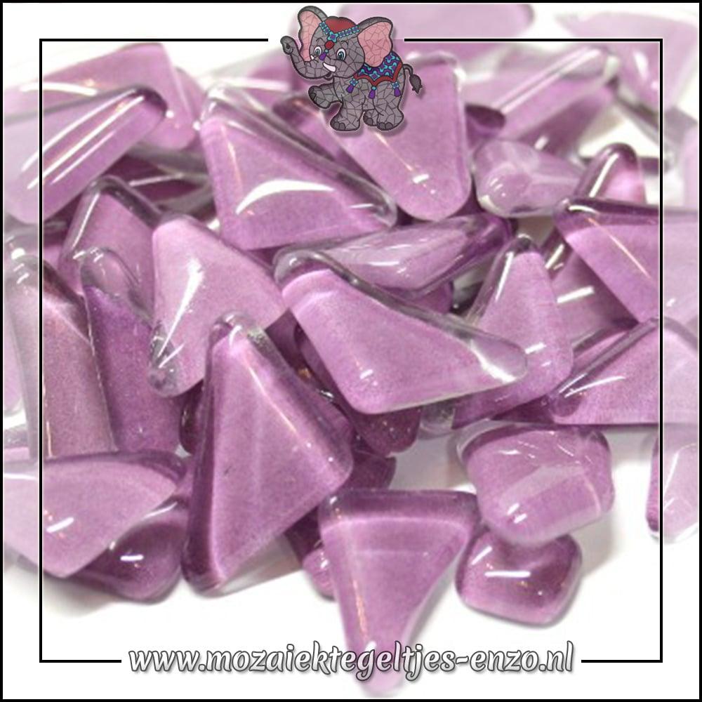 Soft Glas Puzzelstukjes Normaal   Enkele Kleuren   50 gram  Orchid