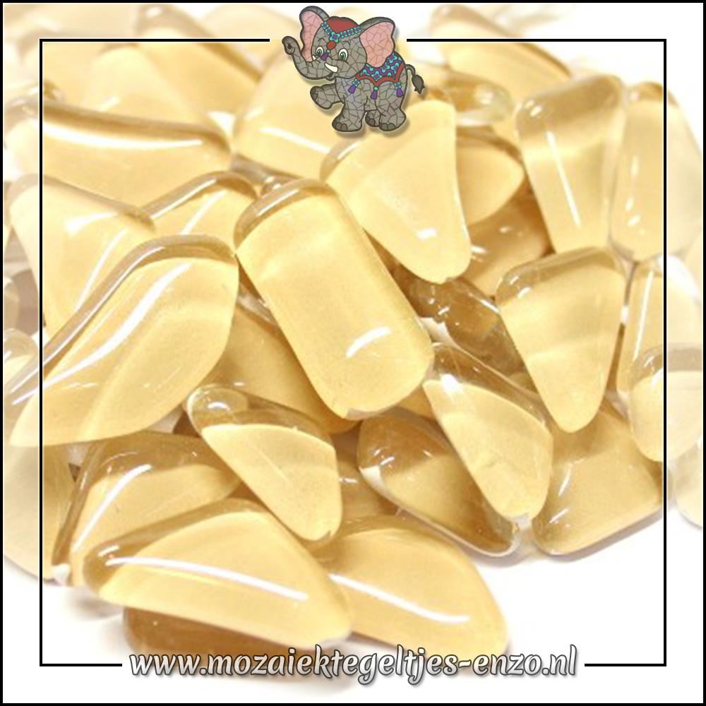 Soft Glas Puzzelstukjes Normaal | Enkele Kleuren | 50 gram |Flesh Pot