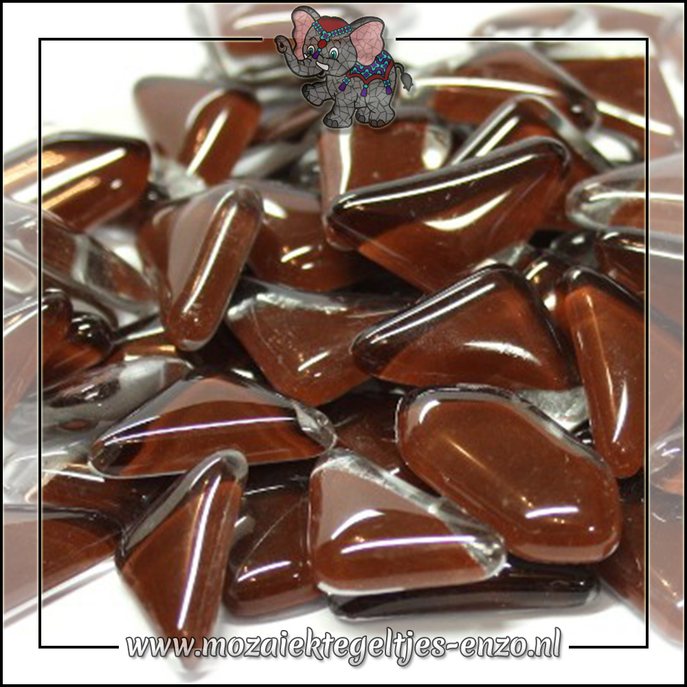 Soft Glas Puzzelstukjes Normaal | Enkele Kleuren | 50 gram |Espresso