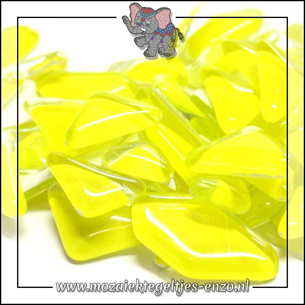 Soft Glas Puzzelstukjes Normaal | Enkele Kleuren | 50 gram |Citrus Yellow