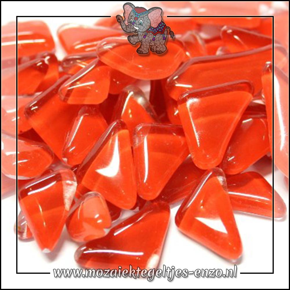Soft Glas Puzzelstukjes Normaal | Enkele Kleuren | 50 gram |Brilliant Red