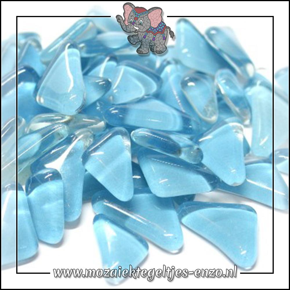Soft Glas Puzzelstukjes Normaal | Enkele Kleuren | 50 gram |Turquoise