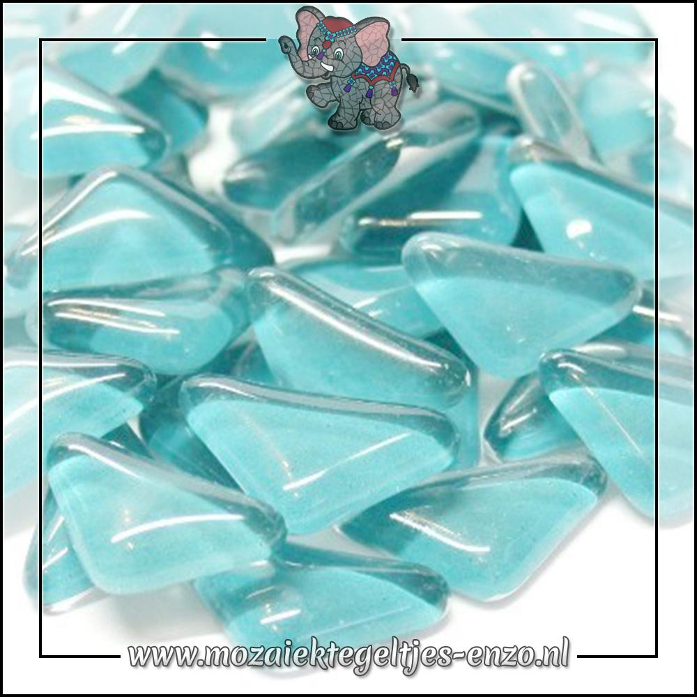 Soft Glas Puzzelstukjes Normaal | Enkele Kleuren | 50 gram |Light Aqua