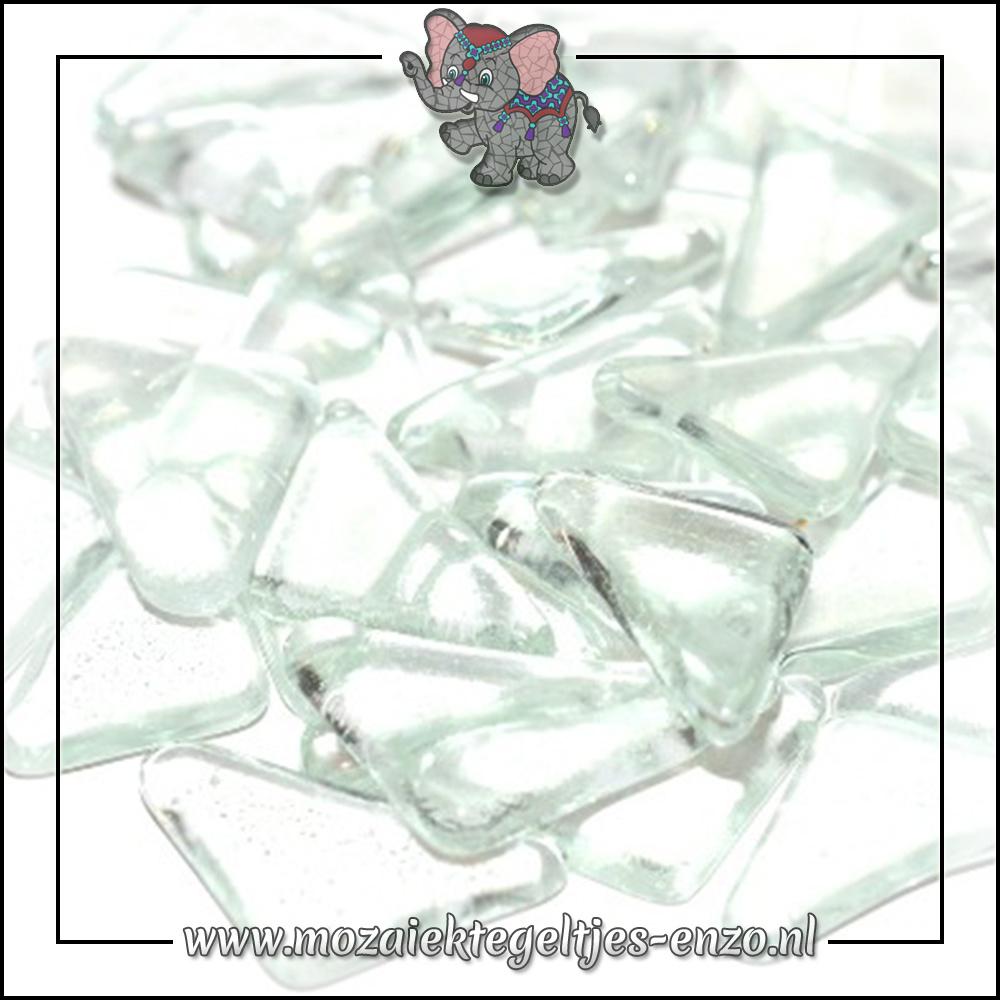 Soft Glas Puzzelstukjes Normaal   Enkele Kleuren   50 gram  Clear Diamand