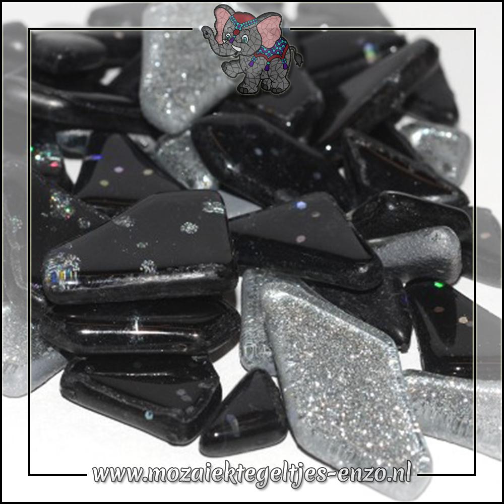 Soft Glas Puzzelstukjes Glitter | Gemixte Kleuren | 50 gram |Galaxy