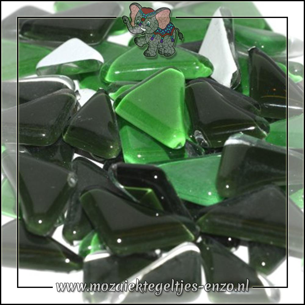 Soft Glas Puzzelstukjes Normaal | Gemixte Kleuren | 50 gram |Conifer Green