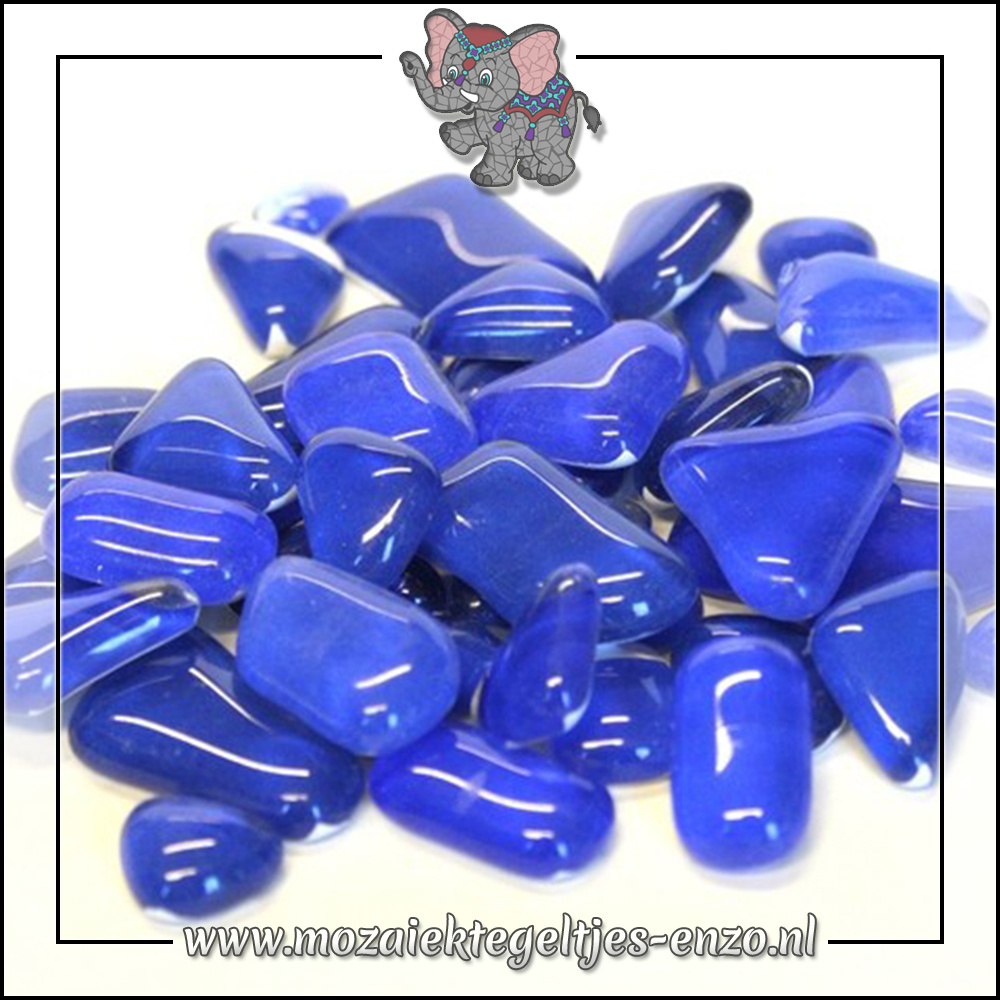 Soft Glas Puzzelstukjes Normaal   Gemixte Kleuren   50 gram  Blue Delphinium