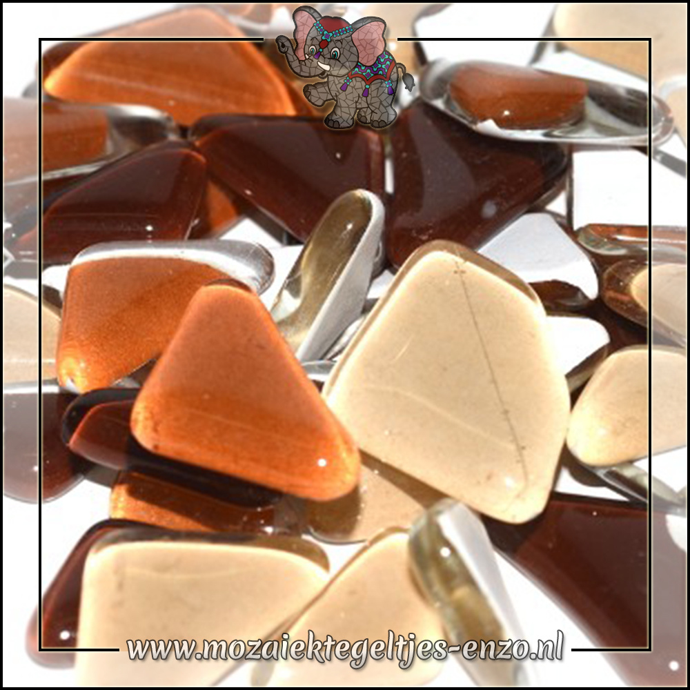 Soft Glas Puzzelstukjes Normaal | Gemixte Kleuren | 50 gram |Chocolate Cosmos