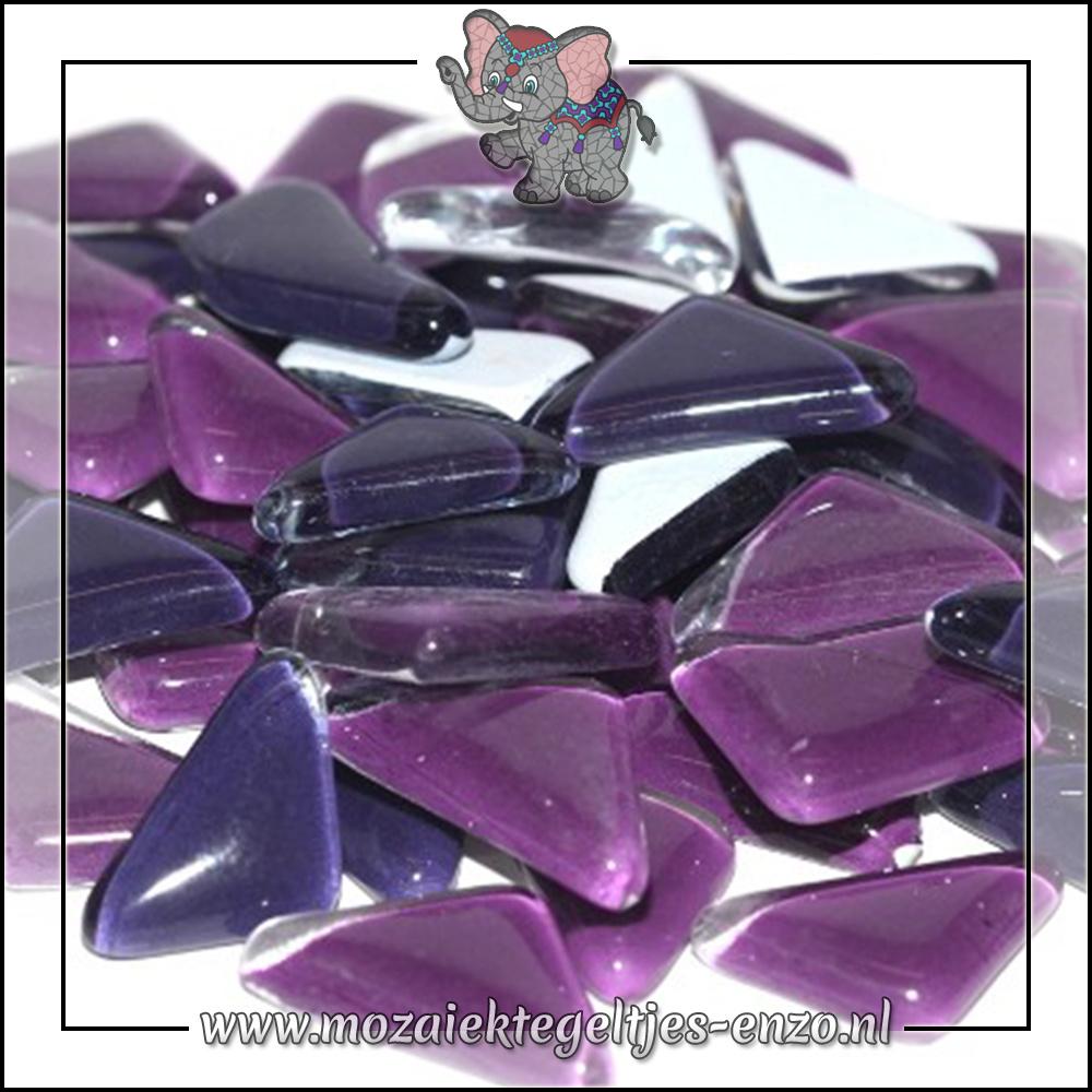 Soft Glas Puzzelstukjes Normaal | Gemixte Kleuren | 50 gram |Purple Pansy