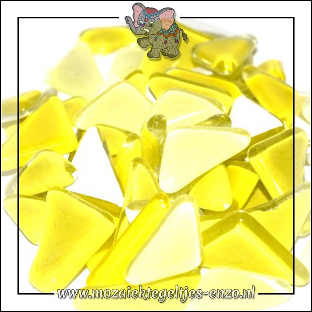 Soft Glas Puzzelstukjes Normaal   Gemixte Kleuren   50 gram  Yellow Narcissus