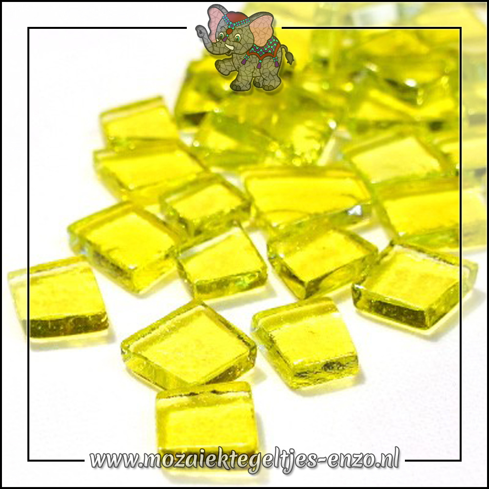 Transparante Glas Puzzelstukjes Normaal | Enkele Kleuren | 50 gram |Zydeco Yellow