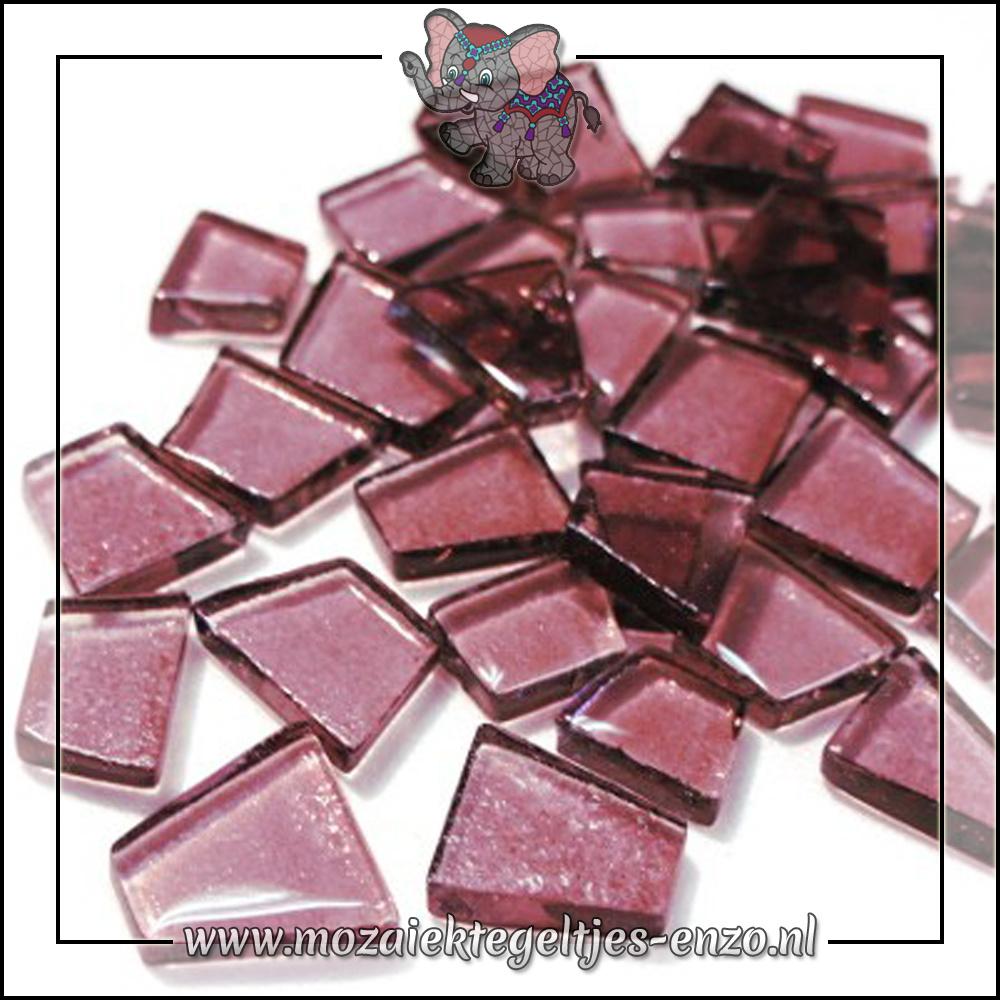 Transparante Glas Puzzelstukjes Normaal | Enkele Kleuren | 50 gram |Trip Hop Violet