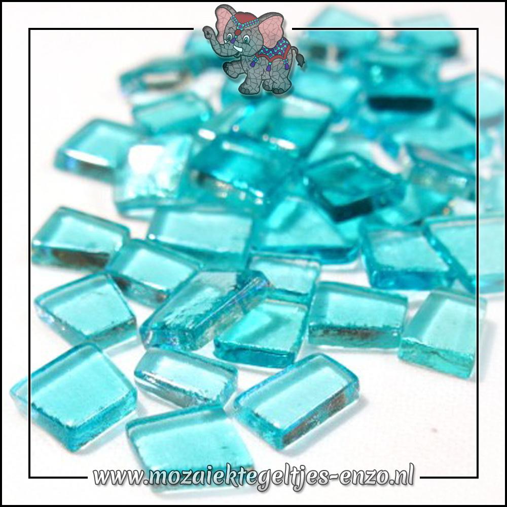 Transparante Glas Puzzelstukjes Normaal | Enkele Kleuren | 50 gram |Sea Punk Turquoise