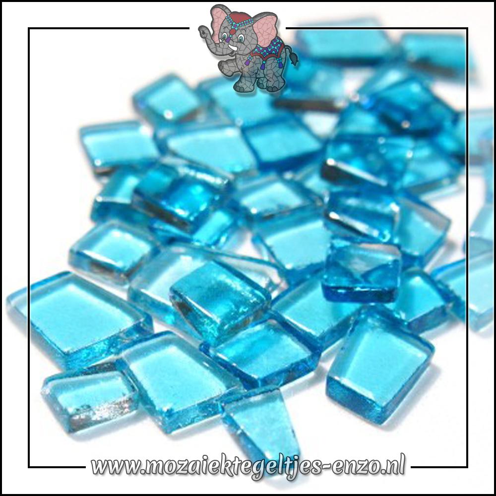 Transparante Glas Puzzelstukjes Normaal | Enkele Kleuren | 50 gram |Operatic Aqua