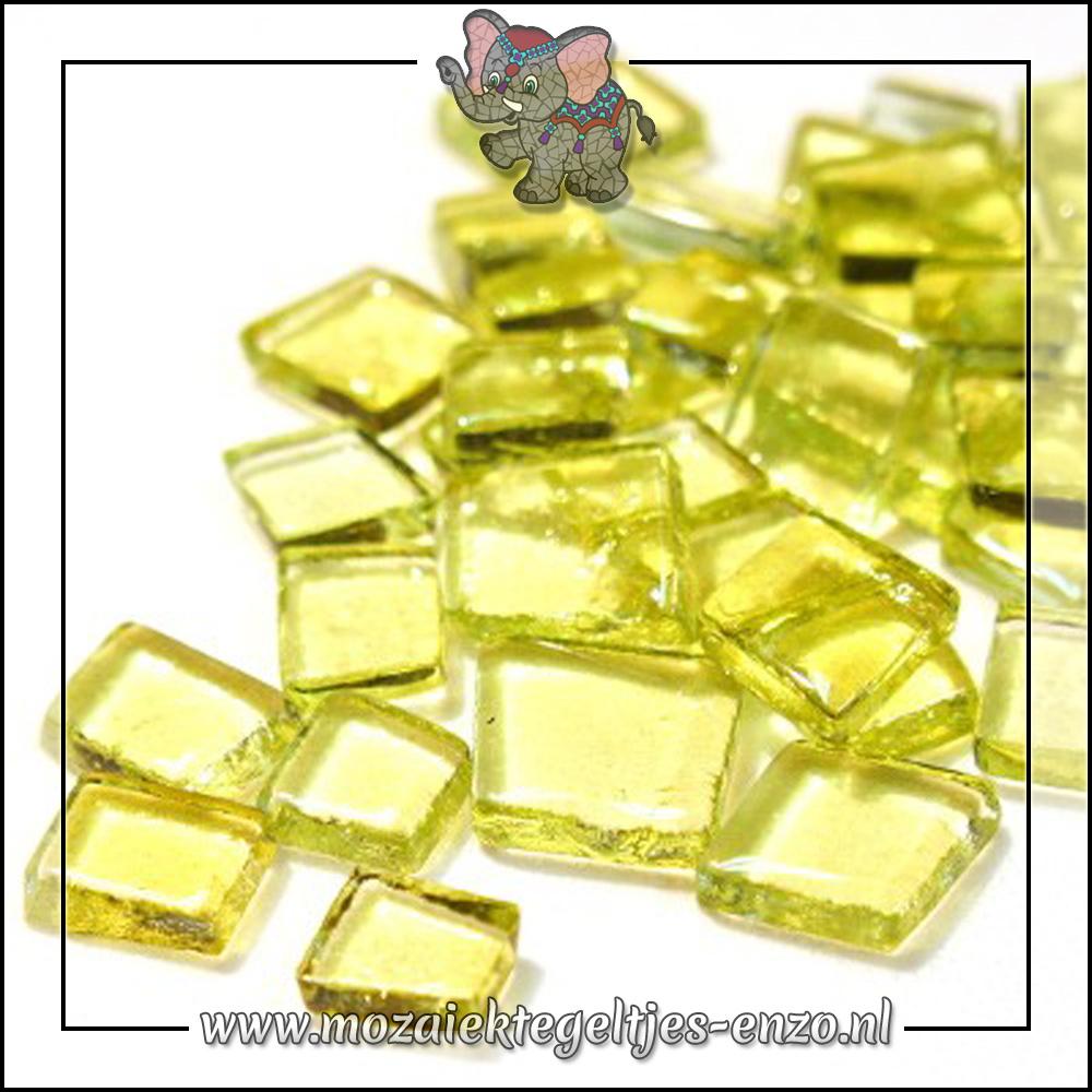Transparante Glas Puzzelstukjes Normaal   Enkele Kleuren   50 gram  Jazz Fusion Lemon